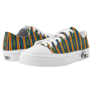 Colorful Striped Tennis Shoes