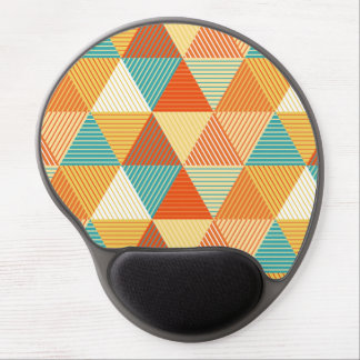 Colorful Striped Triangles Pattern Gel Mouse Pad