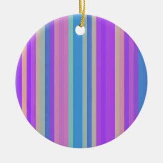 Colorful Stripes 01 Christmas Tree Ornaments