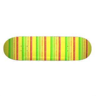 colorful stripes 21.3 cm mini skateboard deck