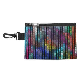 colorful stripes accessory bag