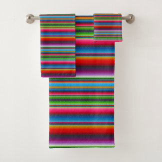 Colorful Stripes Bath Towel Set