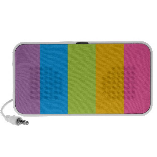 Colorful Stripes Color Blocking Mini Speakers