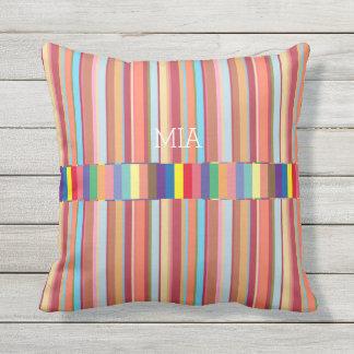colorful stripes, cool & geometric, custom outdoor cushion