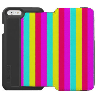 colorful stripes, flashy incipio watson™ iPhone 6 wallet case