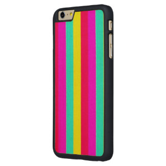 colorful stripes, flashy carved® maple iPhone 6 plus case