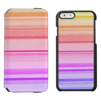 Colorful Stripes Lines Incipio Watson™ iPhone 6 Wallet Case