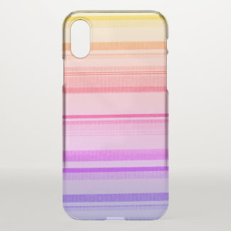 Colorful Stripes Lines iPhone X Case