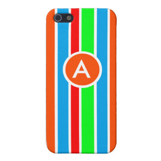 Colorful Stripes Monogram Case iPhone 5/5S Covers