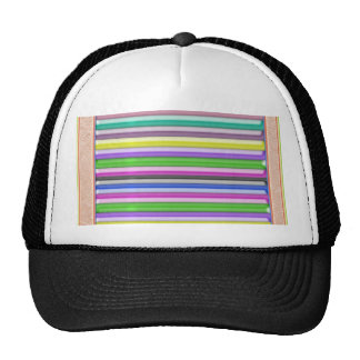 Colorful Stripes n Gold Border Cap
