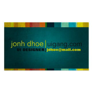 Colorful Stripes Pack Of Standard Business Cards