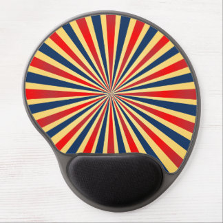 Colorful stripes pattern gel mouse pad