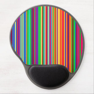 Colorful stripes pattern illustration gel mouse pad