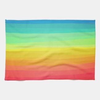 Colorful stripes pattern tea towels