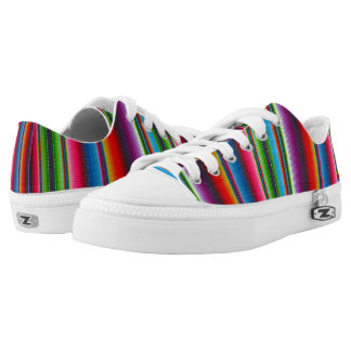 Colorful Stripes Printed Shoes