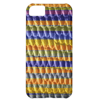 Colorful stripes retro graphic design iPhone 5C case