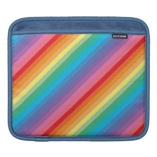 Colorful stripes rickshaw ipad sleeve