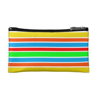Colorful Stripes Small Cosmetic Bag