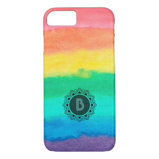 Colorful Stripes Watercolors Brush Strokes iPhone 8/7 Case