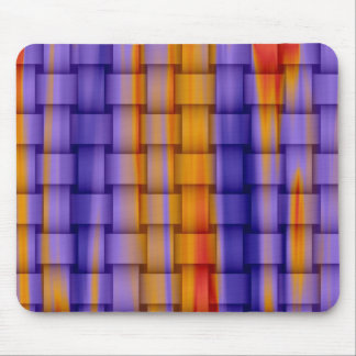colorful stripes wicker art graphic design mouse pad