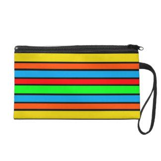 Colorful Stripes Wristlet