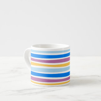 Colorful Strips Blue, Purple, Gold Espresso Mug