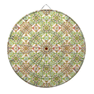 Colorful Stylized Floral Boho Dartboard