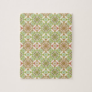 Colorful Stylized Floral Boho Jigsaw Puzzle