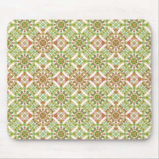 Colorful Stylized Floral Boho Mouse Pad