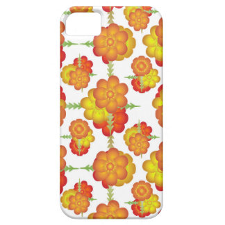 Colorful Stylized Floral Pattern Barely There iPhone 5 Case