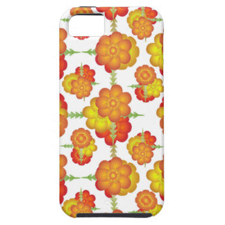 Colorful Stylized Floral Pattern iPhone 5 Cases