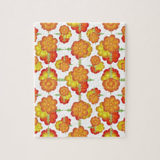 Colorful Stylized Floral Pattern Jigsaw Puzzle