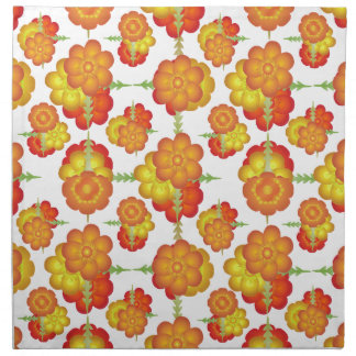 Colorful Stylized Floral Pattern Napkin