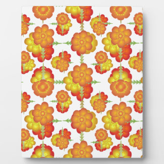 Colorful Stylized Floral Pattern Plaque