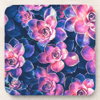 Colorful Succulent Plants Coaster