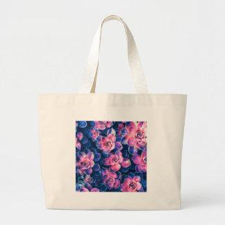 Colorful Succulent Plants Large Tote Bag