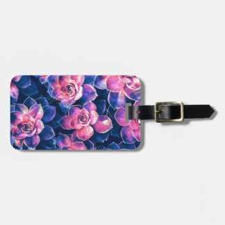Colorful Succulent Plants Luggage Tag