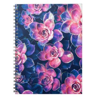 Colorful Succulent Plants Notebooks