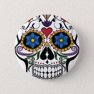 Colorful Sugar Skull 6 Cm Round Badge