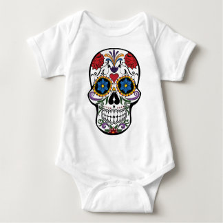 Colorful Sugar Skull Baby Bodysuit