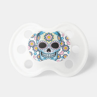 Colorful Sugar Skull Baby Pacifiers