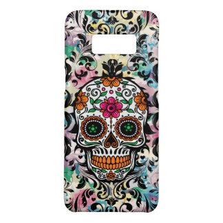 Colorful Sugar Skull & Black Swirls Case-Mate Samsung Galaxy S8 Case