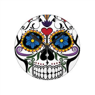 Colorful Sugar Skull Clocks