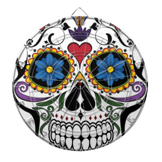 Colorful Sugar Skull Dartboard