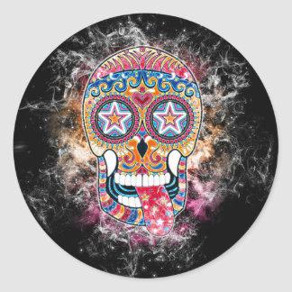 Colorful Sugar Skull, Day of the Dead Sticker