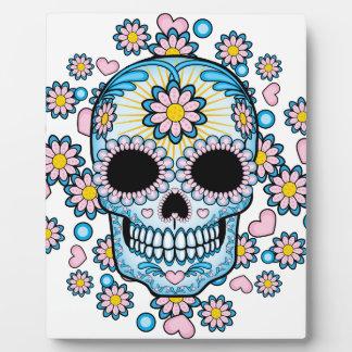 Colorful Sugar Skull Display Plaque