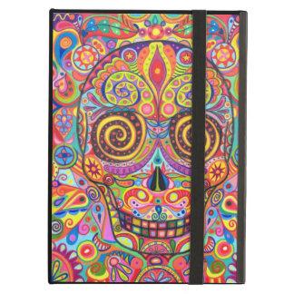 Colorful Sugar Skull iPad Case with Kickstand