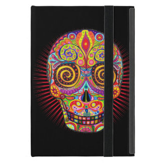 Colorful Sugar Skull iPad Mini Case with Kickstand