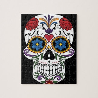 Colorful Sugar Skull Jigsaw Puzzle