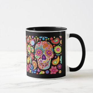 Colorful Sugar Skull Mug - Day of the Dead